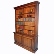 19th Century Mahogany Library Bookcase  SOLD