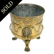 19th Century Dutch Brass Planter