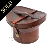 Victorian Leather Hat Box