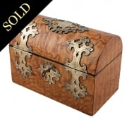 Victorian Ash Wood Stationery Box