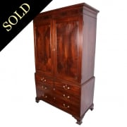 Georgian Hepplewhite Mahogany Wardrobe
