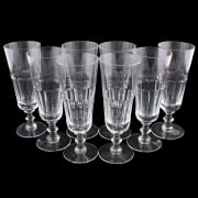 Eight Georgian Style Champagne Flutes