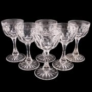 Set of Six White Wine Glasses SOLD
