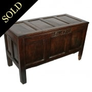 Queen Ann Period Oak Dower Chest