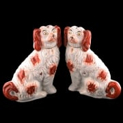 Pair of Staffordshire Pottery Dogs SOLD