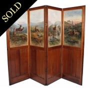 19th Century Oak Four-Fold Screen