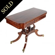 Regency Card Table Attributed to William Trotter