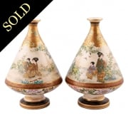 Fine Pair of Japanese Satsuma Vases