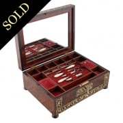 Regency Rosewood Brass Inlaid Box