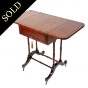Regency Pollard Oak & Rosewood Side Table