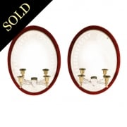 Pair of Victorian Girandole Mirrors