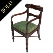 Regency Mahogany Elbow Chair