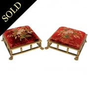 Pair of Gilt Brass Foot Stools