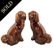 Pair of Salt Glazed Staffordshire Dogs