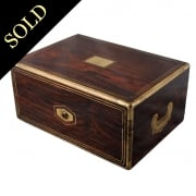 Rosewood & Brass Deed Box by Aucoc Ainé of Paris