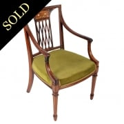Regency Style Rosewood Arm Chair