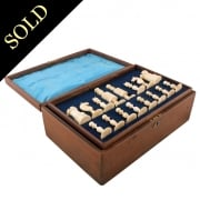 Edwardian Boxed Bone Chess Set