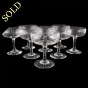 Eight French Champagne Glasses