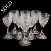 Set of Eight Edwardian Sherry or Port Glasses