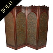 Victorian Four Fold Screen