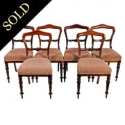 Set of Six Victorian Rosewood Chairs