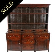 18th Century Oak Dresser & Rack