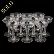 Ten Hollow Stem Champagne Glasses