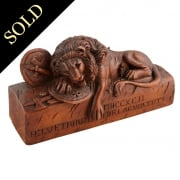 Carved Wood Lion of Lucerne