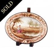 Continental Hand Painted China Plate