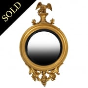 Regency Gilt Wood Convex Mirror
