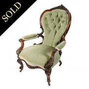 Victorian Walnut Gent's Arm Chair
