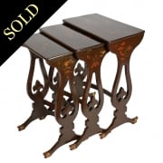 Nest of Chinese Lacquered Tables