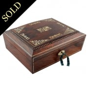 Victorian Rosewood Games Box