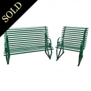 Two Wrought Iron Garden Seats