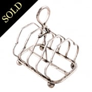 George V Sterling Silver Toast Rack