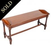 Victorian Oak Window Seat