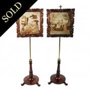Pair of George IV Rosewood Pole Screens