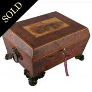 Regency Yew Wood Jewel Box