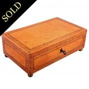 Victorian Maple & Birch Jewellery Box