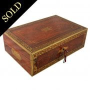 Regency Brass Inlaid Box Desk