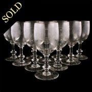 Ten French Wine Glasses