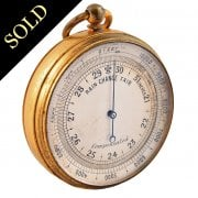 Edwardian Gilt Metal Pocket Barometer