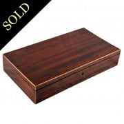 Georgian Zebra Wood Veneered Box