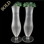 Pair of Art Nouveau Glass Vases