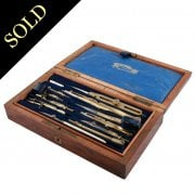 Case of French Drawing Instruments