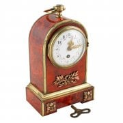 19th Century Tortoise Shell Table Clock SOLD