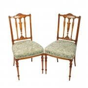 Pair of Victorian Satinwood Chairs SOLD