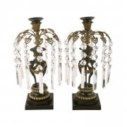 Regency Bronze & Gilt Brass Candlesticks