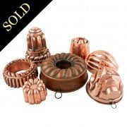 Seven Victorian Copper Jelly Moulds