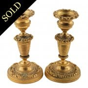Petit Pair of Ormolu Candlesticks